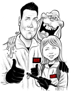 black and white caricature sample