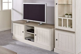 meuble tv contemporain couleur chene blanc et marron jeanne 2
