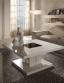 table basse carree design laquee blanche willy