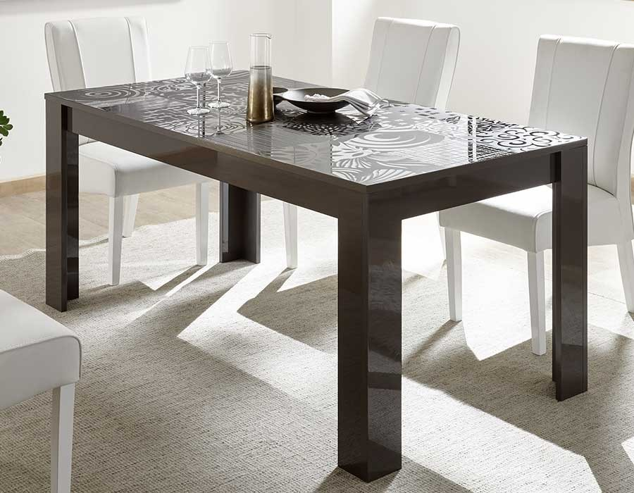 table a manger extensible design anthracite elda 2