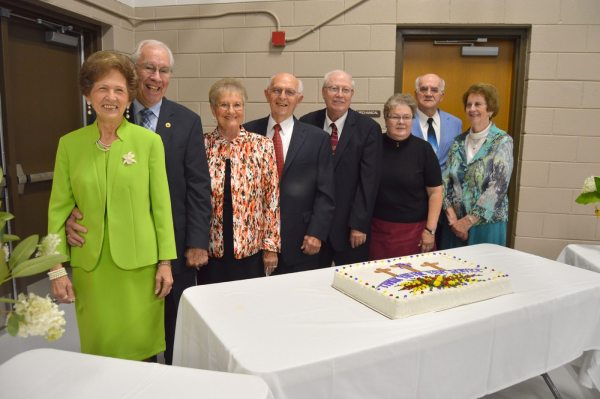 Pictured from left are Jane and the Rev. Gordon noble, Libby and the Rev. Billy Warren, the Rev. Delmar and Dianne James and the Rev. Herbert and Jean McCoy.