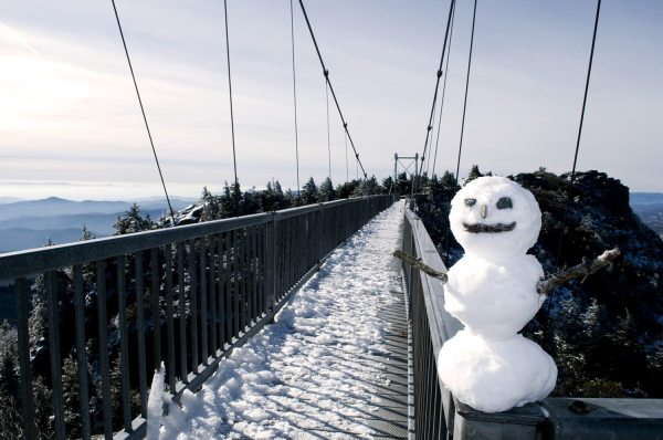 Grandfather Mountain welcomes visitors to celebrate the winter and holiday seasons from a mile high. Photo courtesy of the Grandfather Mountain Stewardship Foundation