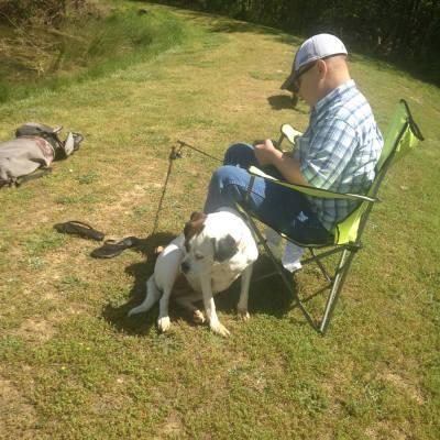 """Ryan """"Possum"""" Mullis and Dixie"""