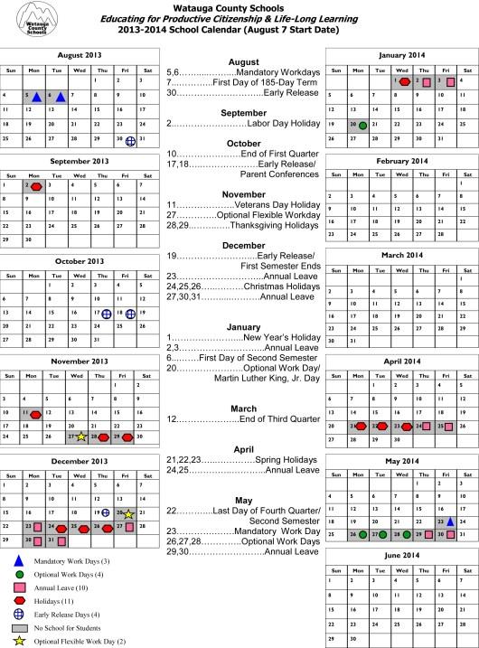 2013-2014 calendar aug 7