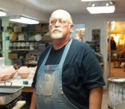 Bob Meier, owner of Doe Ridge Pottery / DBDA Board Member
