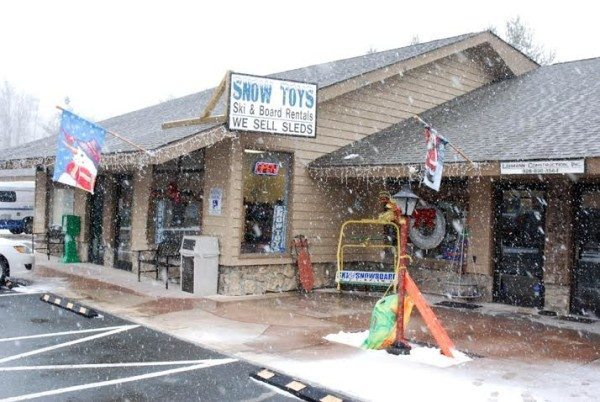 Winter weather arrives at Snow Toys in Banner Elk in January.