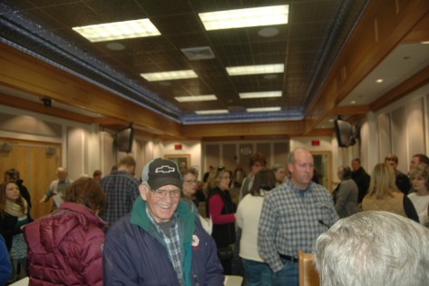 The boardroom was packed with constituents talking about early voting.