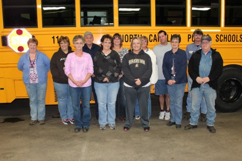 The staff at Avery County Schools that keeps the kids on the road to and from school. Photo courtesy of Avery County Schools