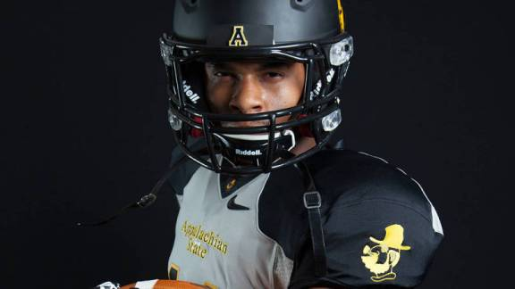 For the first time in school history, Appalachian State will don grey uniforms when Andrew Peacock and the Mountaineers host 4-0 Charleston Southern on Saturday afternoon at Kidd Brewer Stadium. Photo courtesy of App State Athletics/Chase Reynolds
