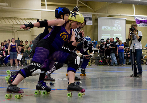 Appalachian RollerGirls are fierce competitors