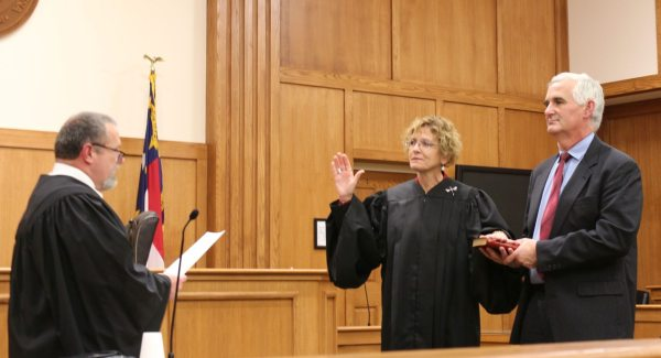 The Honorable Rebecca Eggers- Gryder from Watauga county was also sworn in for her second term as District Court Judge.