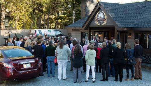 More than 150 people attended the grand opening on Thursday.