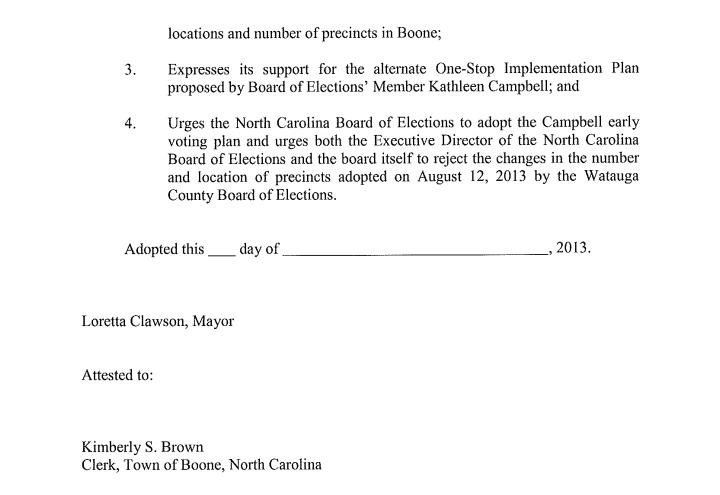 Boone Resolution 3