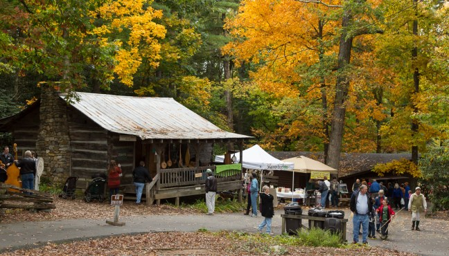 The leaves are changing at the Boone Heritage Festival. Photo by Lonnie Webster