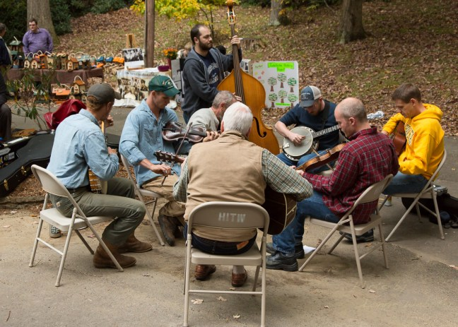 The jamming area at the Boone Heritage Festival - Photo by Lonnie Webster