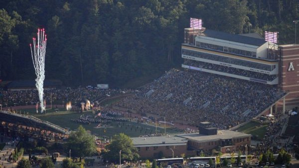 With 11 of Kidd Brewer Stadium's 27 non-student sections already sold out for the 2016 football season, App State athletics will hold a single-game tickets pre-sale on Tuesday, July 25. Photo by Dave Mayo / Appalachian State Athletics