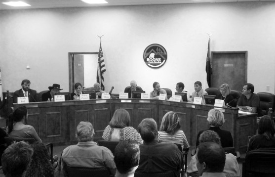 "The ""Candidate Forum"" was held at the Boone Town Council Chambers last week. Photo by Jesse Wood"