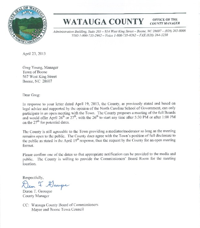 County Letter