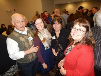 Event-goers enjoy catching up at the Boone Chamber's After Hours event at La Quinta on Thursday night.