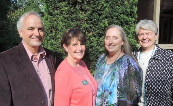 Pictured left to right are Peter Paglen (Better Days and Nights), JoAnn McMurray (Chamber), Stephanie Paglen (Better Days and Nights) and Bev Payne (Silver Springs Farm).