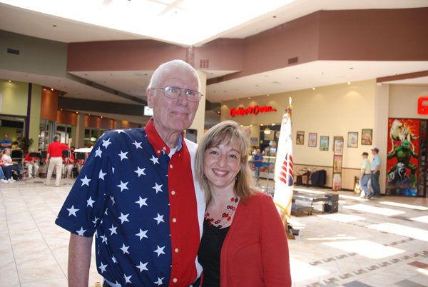 Sonny Sweet with April Pope of the Watauga County Veterans' Services