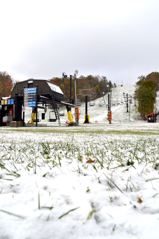 App Ski Mountain on Friday morning - Photo by Drew Stanley
