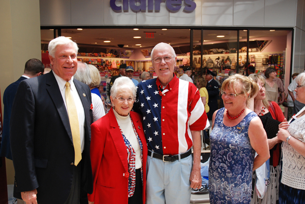 Sheriff Len Hagaman, U.S. Rep. Virginia Foxx, Sonny Sweet and another woman pose after the ceremony.