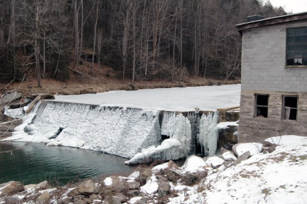 The spillway off of Old Watauga River Road.