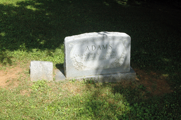 This is one of the two graves in the black section that are still in place.