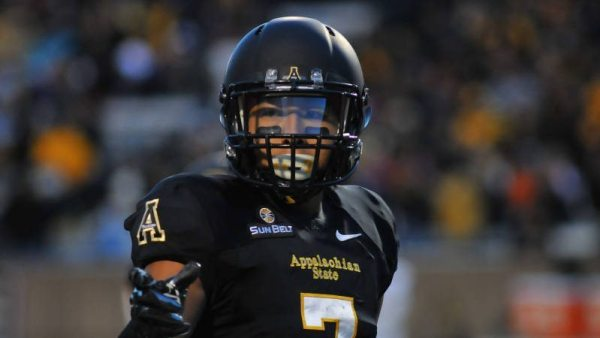 Senior wideout Malachi Jones and the Mountaineers are picked to finish fourth in the Sun Belt in 2015 by the league's coaches. Courtesy: DCMayo (Appalachian, '83)