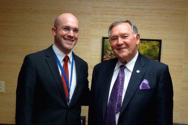 Superintendent Dr. Scott Elliott with Edmisten