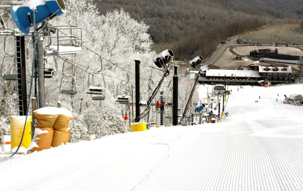 """App Ski Mountain has """"excellent conditions today after snowmaking last night,"""" according to marketing director Drew Stanley. Photo by Drew Stanley"""