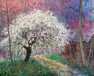 Egi Antonaccio - Spring Flora - 42x52 - Acrylic