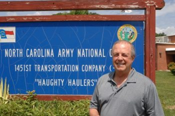 The Rev. Charlie Martin is pictured in front of the newly renovated National Guard Armory in Boone, where the Aug. 6 Pastor Appreciation event will take place. Photo by Peter W. Morris.