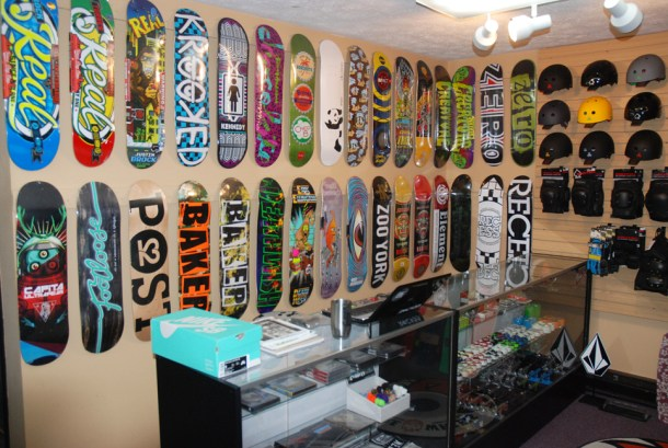 Don't forget about the skateboard selection