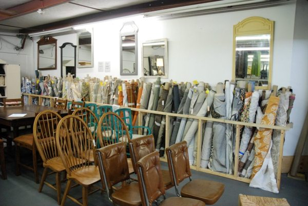 Upstairs in the consignment shop