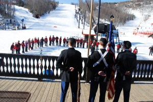 The Appalachian Ski Mountain Ski Patrol hosted a special event to honor members of the Wounded Warrior Project on Saturday, March 9. Photo by Ken Ketchie