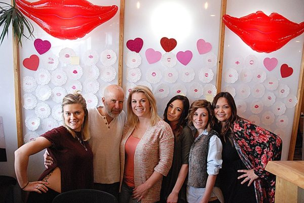 Haircut 101. Pictured from left are Brittany Benton, John Mena, Haley Madson, Miranda Rickman, April Varner and Jezabel Lebatard.
