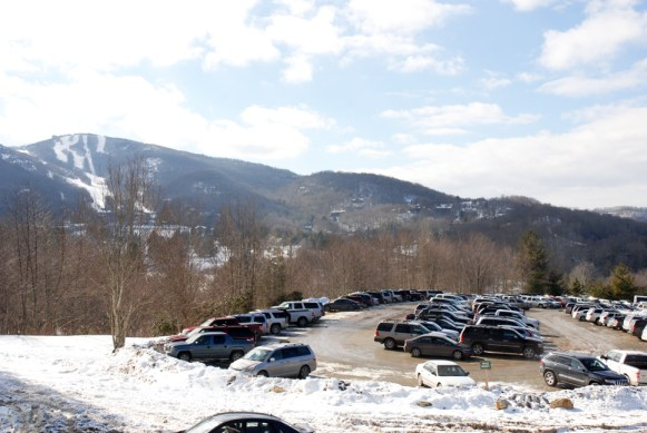 Sugar Mountain Resort was packed this weekend. Photo by Ken Ketchie