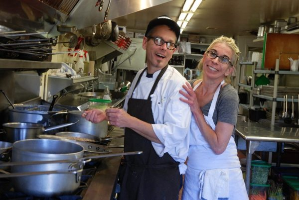 Ken and Wendy Gordon are pictured in the kitchen at the Gamekeeper Restaurant and Bar. Photo by Ken Ketchie.