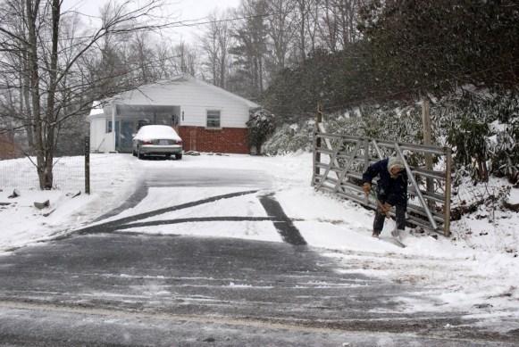 Many residents are shoveling show already