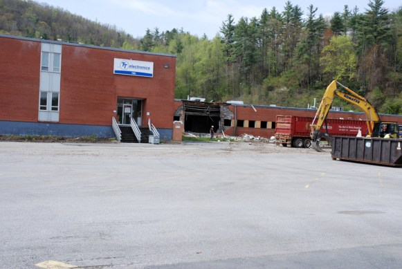 Demolition for the IRC plant on Greenway Road in Boone recently began. Ken Ketchie