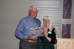Wiseman receiving the Hall of Legends Award recently.