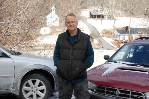 Byerly stands in the parking lot of the former Steve's Auto Service off of U.S. 421 on Thursday. Photo by Ken Ketchie