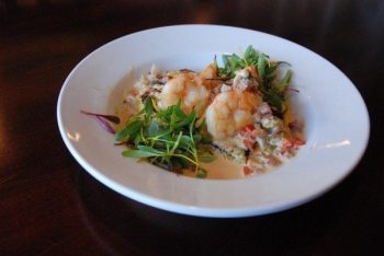 A dish from Red Onion Cafe at last year's small plate crawl. Shrimp and Grits: N.C. White shrimp, pan-seared polenta, cajun andouille cream sauce.