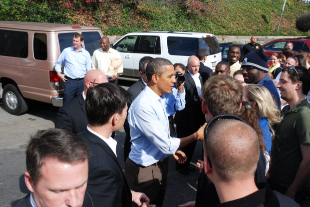 President Obama stopped in downtown Boone for about an hour in October of 2011.
