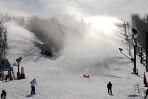 Snowmaking at App Ski Mountain. Photo by Ken Ketchie