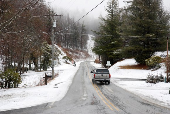 The roads this morning. Photo by Ken Ketchie