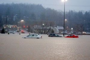The Jan. 30 flood was one of the worst in recent history in Boone. Photo by Ken Ketchie