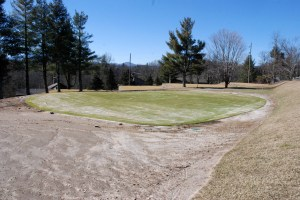 At the Blowing Rock Country Club, greens on the ninth and 14th holes are new. Photo by Ken Ketchie